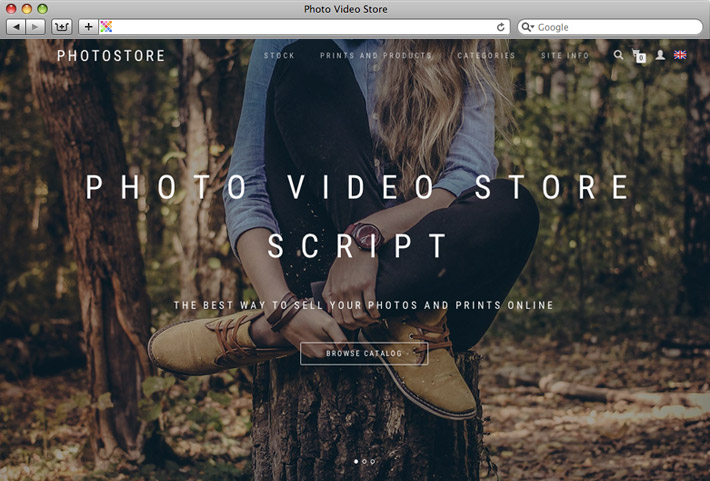 Themes - Sell photos online with Photo Video Store Script. Free ...