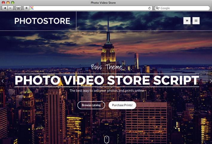 Paid Theme TShop for Photo Video store WordPress plugin